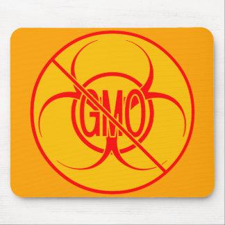 No GMO Mousepad Biohazard Warning Mouse Pad