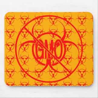 No GMO Mousepad Biohazard Warning No GMO Mouse Pad