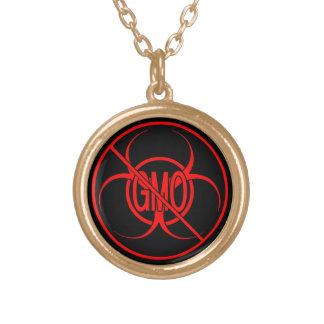 No GMO Necklace Biohazard Warning No GMO Jewelry