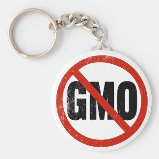 No GMO, Non GMO, March Against Monsanto Keychains