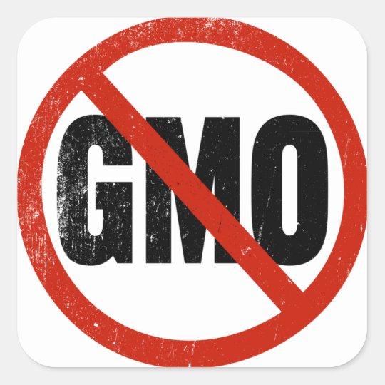 No GMO, Non GMO, March Against Monsanto Square Sticker