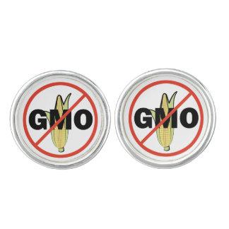 No GMO - On White Cufflinks