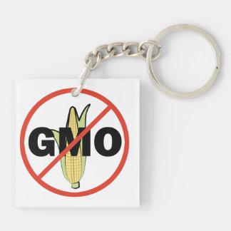 No GMO - On White Key Chain