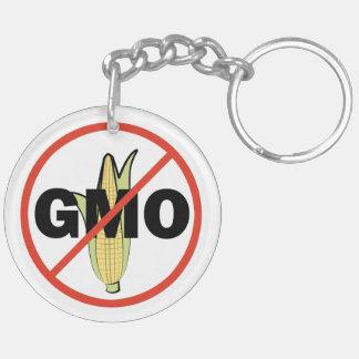No GMO - On White Acrylic Keychain