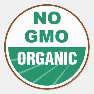 No GMO Organic Classic Round Sticker