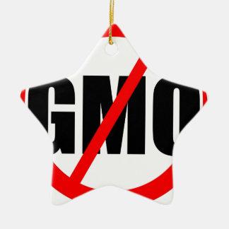 NO GMO - organic/mansanto/activism/protest/farming Ceramic Ornament