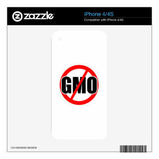 NO GMO - organic/mansanto/activism/protest/farming Skin For The iPhone 4S
