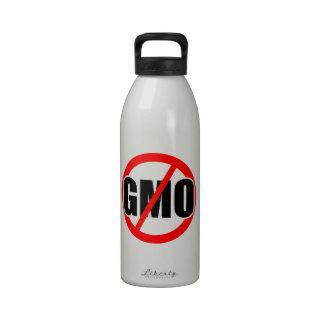NO GMO - organic/mansanto/activism/protest/farming Reusable Water Bottles
