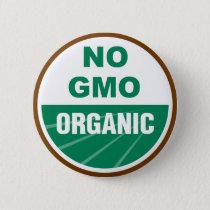 No GMO Organic Pinback Button