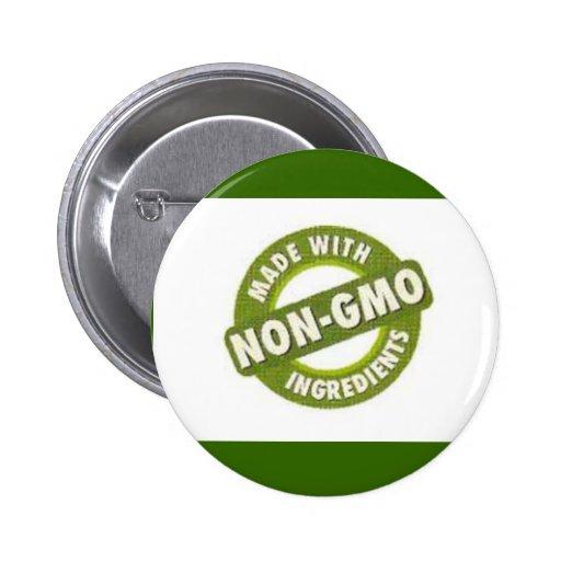 No GMO Pin Redondo De 2 Pulgadas