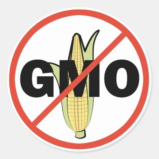 No GMO Round Stickers