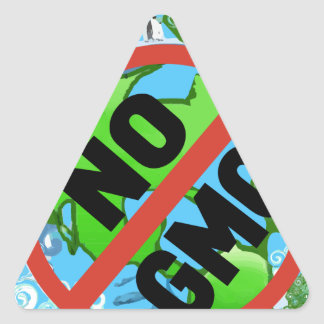 NO GMO TRIANGLE STICKER