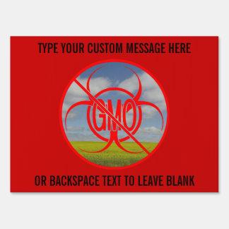 No GMO Yard Sign Personalized No GMO Signs