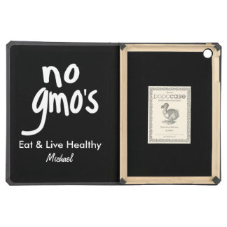 No GMO's Eat Healthy Black Name Personalized iPad Air Case