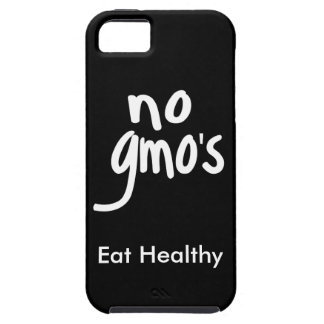 """""""No GMO's Eat Healthy Black White Promotion iPhone 5 Case"""