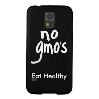 """No GMO's Eat Healthy Black White Promotion Cases For Galaxy S5"