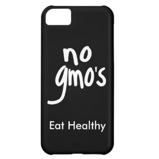 """""""No GMO's Eat Healthy Black White Promotion Cover For iPhone 5C"""