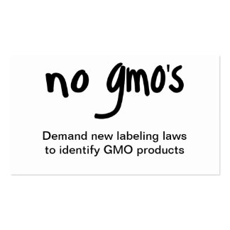 No GMO's Eat Healthy Food Promotion White Double-Sided Standard Business Cards (Pack Of 100)