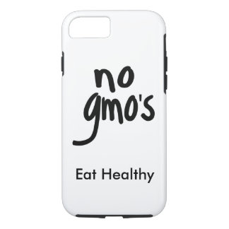 """No GMO's Eat Healthy White with Black Promotion iPhone 8/7 Case"