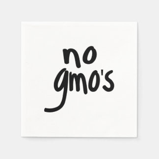 No GMO's for Heathy Food Promotional Black Text Standard Cocktail Napkin
