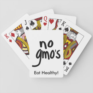 No GMO's for Heathy Food Promotional White Deck Of Cards