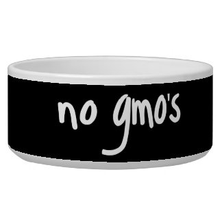 No GMO's Healthy Food Promotion Black Dog Food Bowls