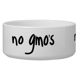 No GMO's Healthy Food Promotion White Dog Water Bowl