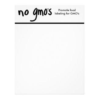 No GMO's Promote Labeling Laws White Letterhead