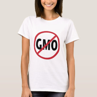 "No GMO's- ""What's in Your Food?"" (Back) T-Shirt"
