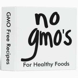 No GMO's White Recipe Note Photo Album 3 Ring Binder