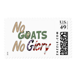 No Goats No Glory Postage Stamps
