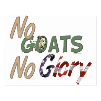 No Goats No Glory Postcard