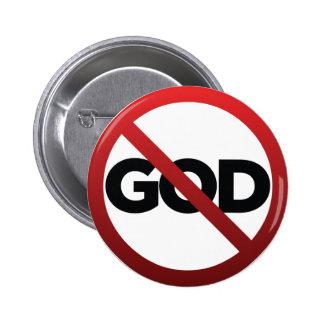 No God 2 Inch Round Button