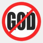"""NO GOD"" CLASSIC ROUND STICKER"