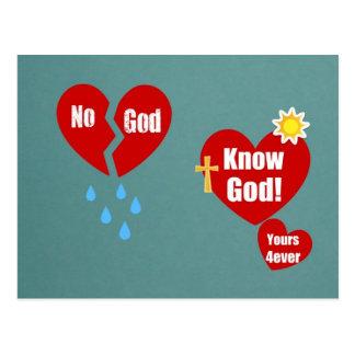 No God; Know God! Postcard