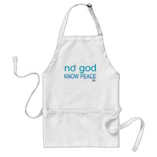 No God, Know Peace Adult Apron