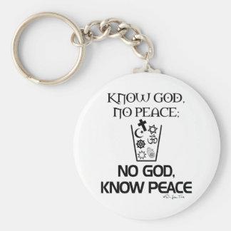 No god, Know Peace Keychain