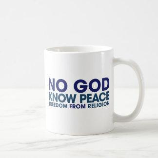 No God Know Peace Mugs