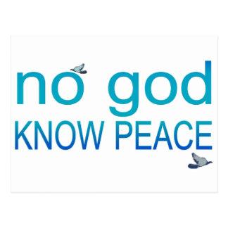 No God Know Peace Postcard