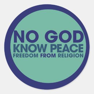 No God Know Peace Sticker