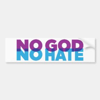 NO GOD NO HATE BUMPER STICKER