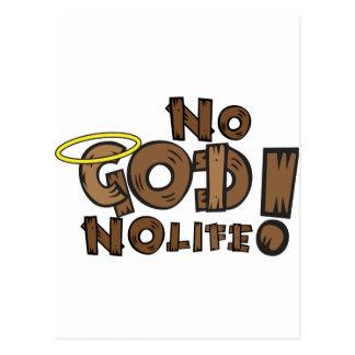 No God, no life! Postcard