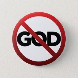 No God Pinback Button