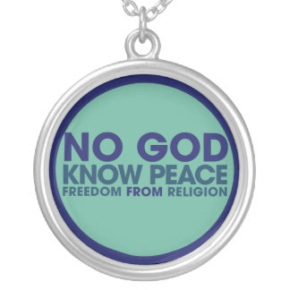 No God Round Pendant Necklace