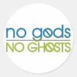 No Gods. No Ghosts. Classic Round Sticker
