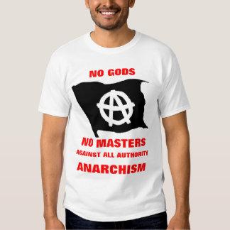 no gods no masters on white shirt