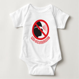 No Goggling! Baby Bodysuit