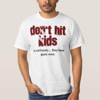 no golpee a los niños poleras