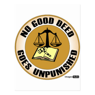 no good deed goes unpunished postcard