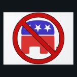 """NO GOP 2018 LAWN SIGN<br><div class=""""desc"""">Enough is enough. In this coming midterm election we need to make an absolutely unbreakable stand against racism, sexism, homophobia and the fleecing of the middle-class. It is time to vote out as many GOP crooks as we can. Every single Republican up for reelection or who is retiring needs to...</div>"""